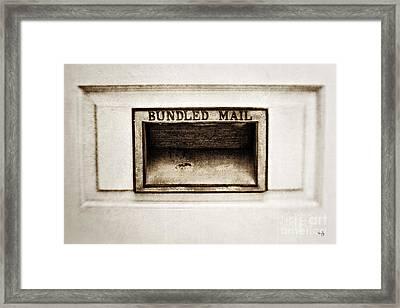 Bundled Mail Framed Print by Scott Pellegrin