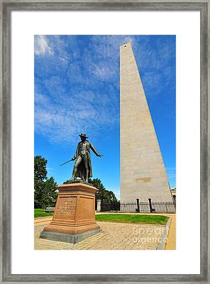 Bunker Hill Monument Framed Print by Catherine Reusch  Daley