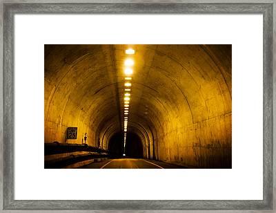 Bunker Road Tunnel Framed Print by SFPhotoStore