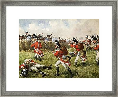 Bunkers Hill, 1775 Framed Print by Richard Simkin