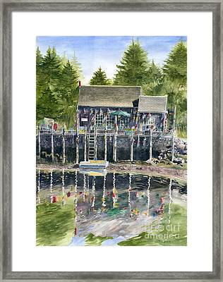 Buoy House Framed Print by Melly Terpening