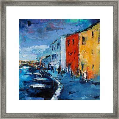 Burano Canal - Venice Framed Print by Elise Palmigiani