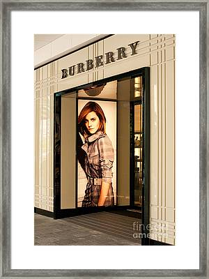 Burberry Emma Watson 02 Framed Print by Rick Piper Photography