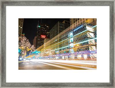 Burberry Zoom Framed Print by Andrew Slater