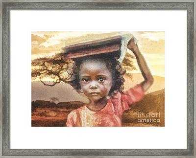 Burden Framed Print by Mo T