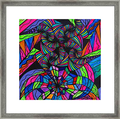 Burgeon Framed Print by Teal Eye  Print Store