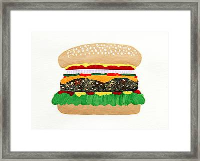 Burger Me Framed Print by Andee Design