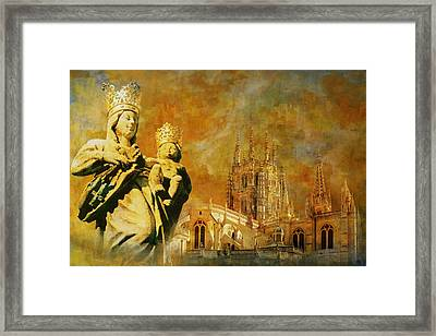 Burgos Cathedral Framed Print by Catf