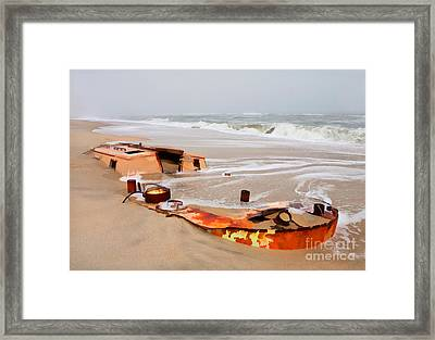 Buried Treasure On The Outer Banks II Framed Print by Dan Carmichael