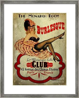 Burlesque Club Framed Print by Cinema Photography