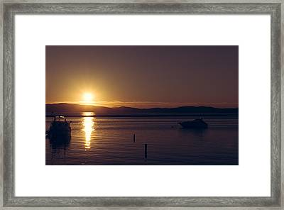 Burlington Sunset Framed Print by Chris Fletcher