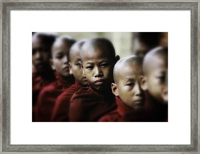 Burma Monks 2 Framed Print by David Longstreath