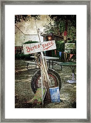 Burma Shave Sign Framed Print by RicardMN Photography