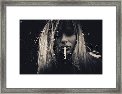 Burn Framed Print by Joan Le Jan