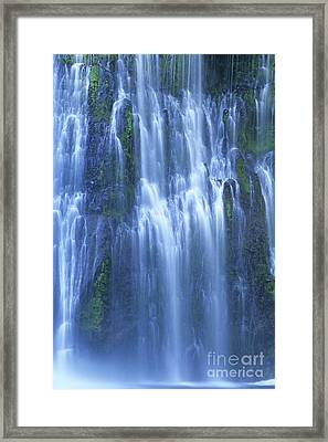 Burney Falls Mist Mcarthur Burney Sp California  Framed Print by Dave Welling