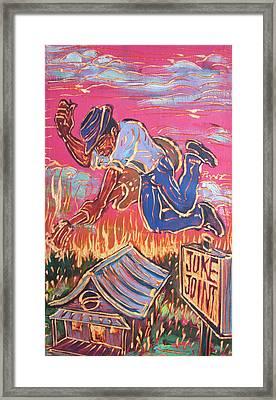 Burnin' It Up Framed Print by Robert Ponzio