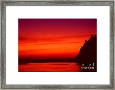 Burning Framed Print by Aiolos Greek Collections