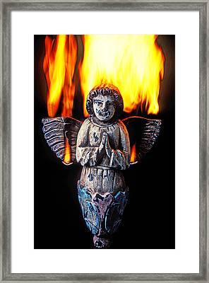 Burning Angel Framed Print by Garry Gay