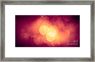 Burning Bokeh Framed Print by Jan Bickerton