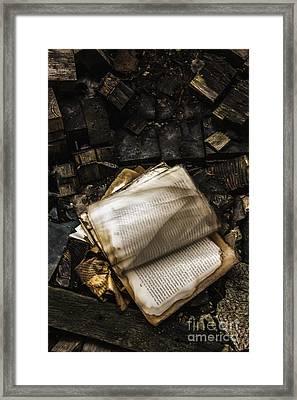 Burning Books Framed Print by Margie Hurwich
