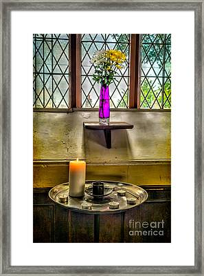Burning Candle Framed Print by Adrian Evans