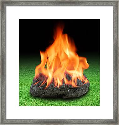 Burning Fossils Fuels, Conceptual Image Framed Print by Science Photo Library