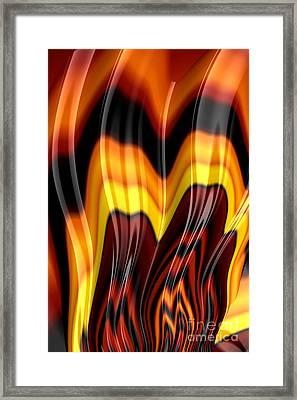 Burning Framed Print by John Edwards