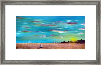 Burning Man Sunrise Framed Print by Jim Bowers