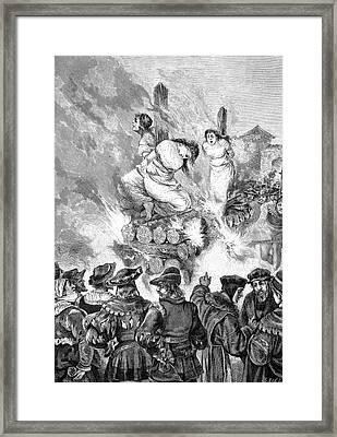 Burning Witches At The Stake Framed Print by Bildagentur-online/tschanz