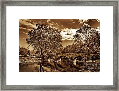 Burnside Bridge At Antietam - Toned Framed Print by Paul W Faust -  Impressions of Light