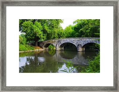 Burnside's Bridge Framed Print by Bill Cannon