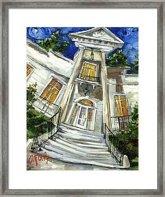 Burritt Museum Framed Print by Carole Foret