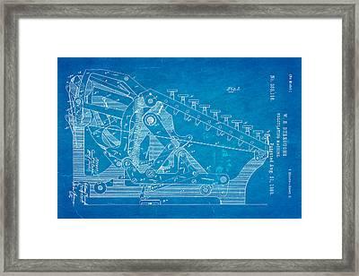 Burroughs Calculating Machine Patent Art 2 1888 Blueprint Framed Print by Ian Monk