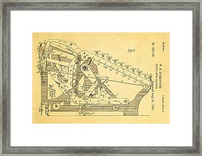 Burroughs Calculating Machine Patent Art 2 1888 Framed Print by Ian Monk