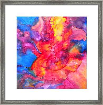 Burst Framed Print by Debi Starr