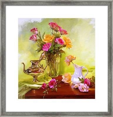 Burst Of Spring Framed Print by Diane Reeves
