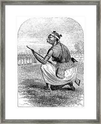 Burton Amazon Soldier Framed Print by Granger
