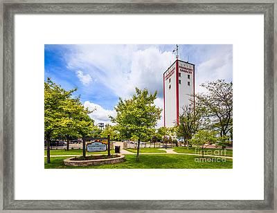 Burton Breidert Village Green In Frankfort Illinois Framed Print by Paul Velgos