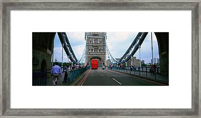Bus On A Bridge, London Bridge, London Framed Print by Panoramic Images