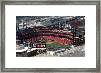 Busch Memorial Stadium Framed Print by Thomas Woolworth