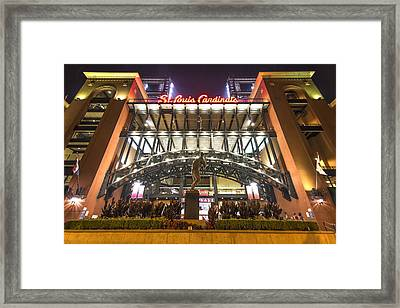 Busch Stadium St. Louis Cardinalsstan Musial Framed Print by David Haskett