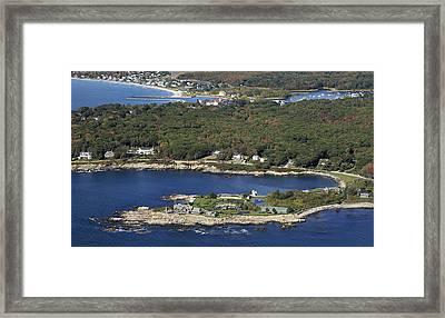 Bush Compound, Kennebunkport Framed Print by Dave Cleaveland