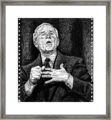 Bush Framed Print by Mark Zelmer