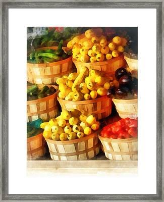 Bushels Of Flavor Framed Print by Susan Savad