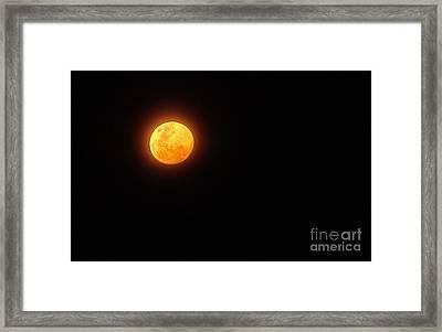 Bushfire Moon Framed Print by Kaye Menner