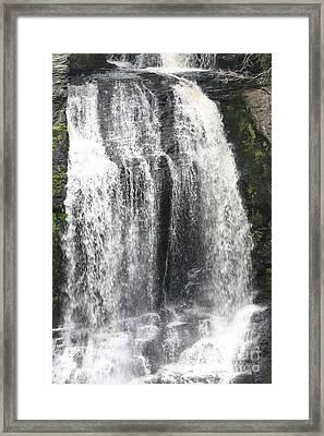 Bushkill Waterfalls Framed Print by John Telfer