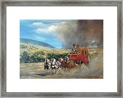 Business As Usual Framed Print by Donna Tucker