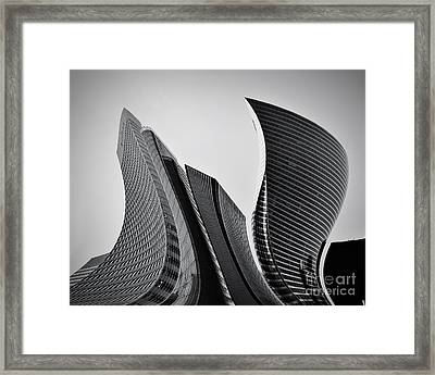 Business Skyscrapers Abstract Conceptual Architecture Framed Print by Michal Bednarek