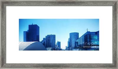 Business Skyscrapers  Paris France Framed Print by Michal Bednarek