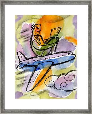 Business Trip Framed Print by Leon Zernitsky